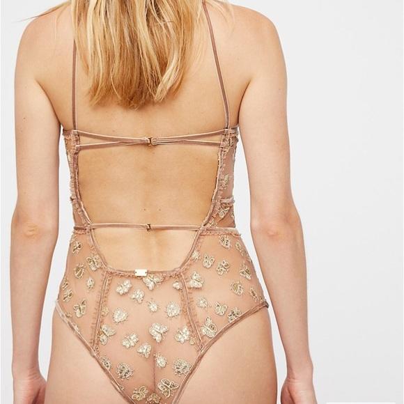 BRAND NEW For Love and Lemons Golden Garden Bodysuit $248 RETAIL Size Small